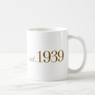 Est 1939 coffee mugs