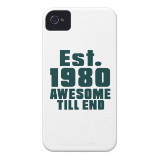 Est. 1980 awesome till end iPhone 4 Case-Mate cases