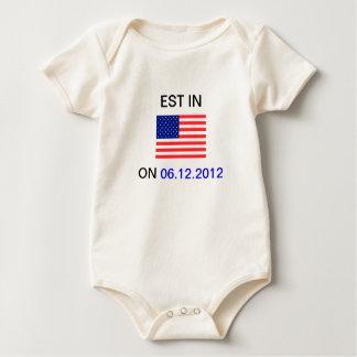 EST In America Baby Sleeper Baby Bodysuit