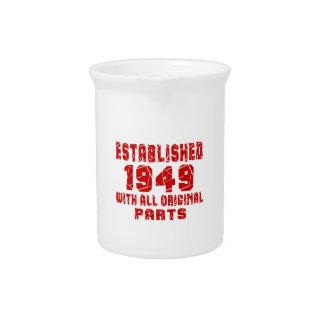Established 1949 With All Original Parts Beverage Pitchers