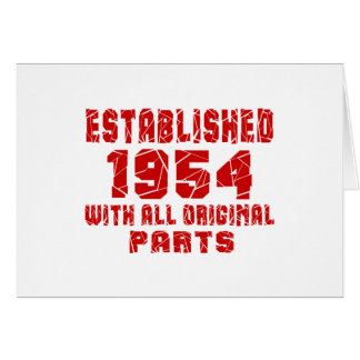 Established 1954 With All Original Parts Card