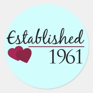 Established 1961 classic round sticker