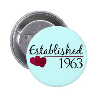 Established 1963 6 cm round badge