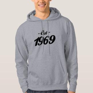 established 1969 - birthday hoodie