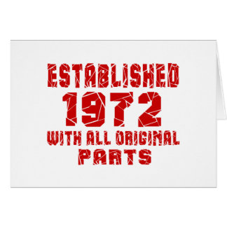 Established 1972 With All Original Parts Card