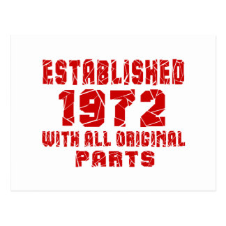 Established 1972 With All Original Parts Postcard