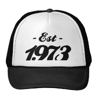 established 1973 - birthday cap