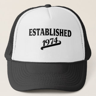 Established 1974.png trucker hat