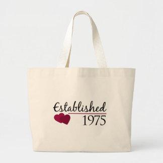 Established 1975 large tote bag