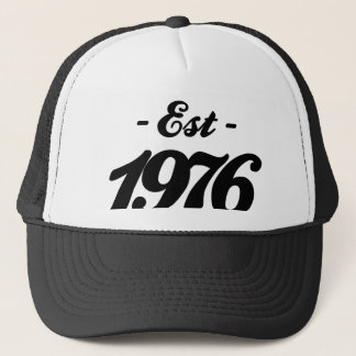 established 1976 - birthday trucker hat