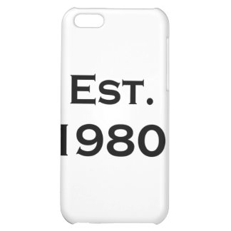 established 1980 iPhone 5C cases
