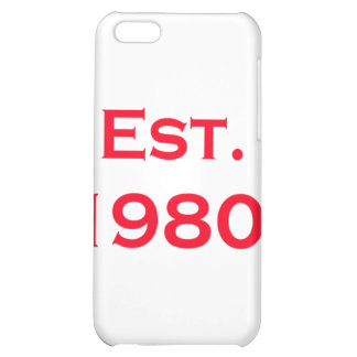 established 1980 iPhone 5C cover