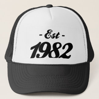 established 1982 - birthday trucker hat