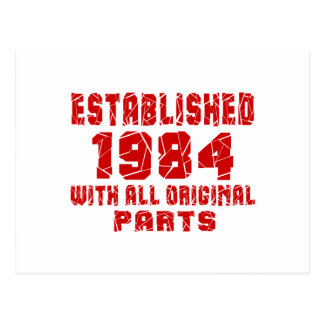 Established 1984 With All Original Parts Postcard