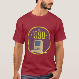 Established 1990 - Retro Computer T-Shirt