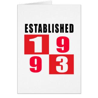 Established 1993 Birthday Designs Card