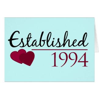 Established 1994 card