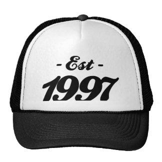established 1997 - birthday cap