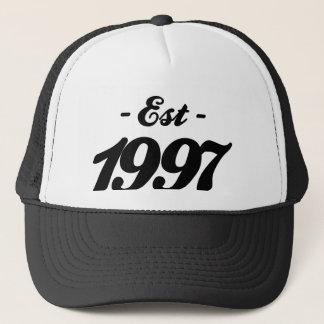 established 1997 - birthday trucker hat