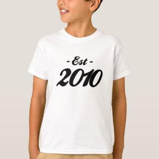 established 2010 - birthday T-Shirt