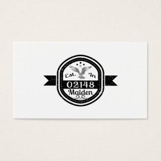 Established In 02148 Malden Business Card