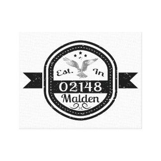 Established In 02148 Malden Canvas Print
