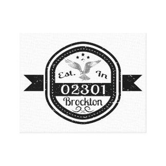 Established In 02301 Brockton Canvas Print