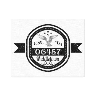 Established In 06457 Middletown Canvas Print