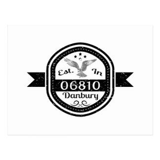 Established In 06810 Danbury Postcard