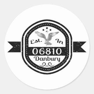 Established In 06810 Danbury Round Sticker