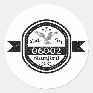 Established In 06902 Stamford Classic Round Sticker