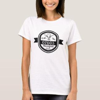 Established In 07003 Bloomfield T-Shirt