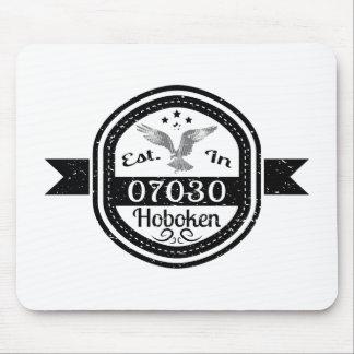 Established In 07030 Hoboken Mouse Pad