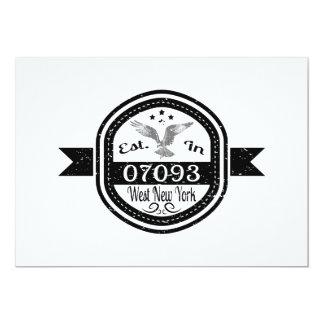 Established In 07093 West New York Card
