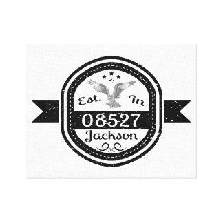 Established In 08527 Jackson Canvas Print
