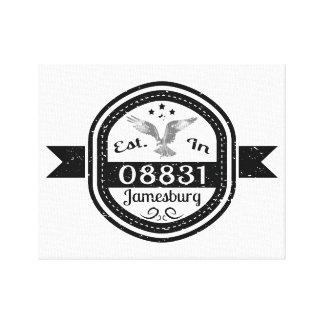Established In 08831 Jamesburg Canvas Print