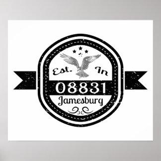 Established In 08831 Jamesburg Poster