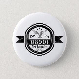 Established In 08901 New Brunswick 6 Cm Round Badge