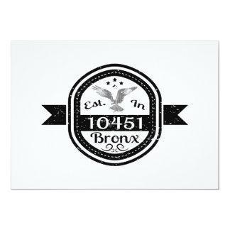 Established In 10451 Bronx Card