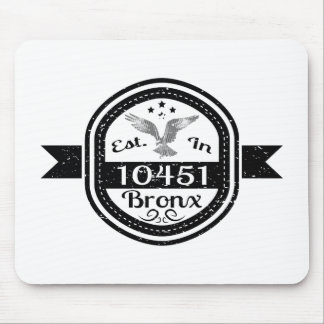 Established In 10451 Bronx Mouse Pad