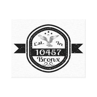Established In 10457 Bronx Canvas Print