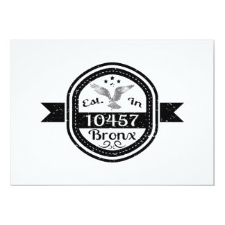 Established In 10457 Bronx Card