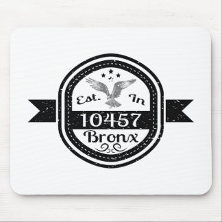 Established In 10457 Bronx Mouse Pad
