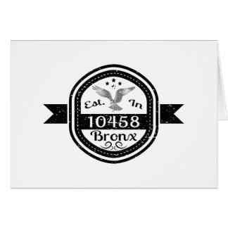 Established In 10458 Bronx Card