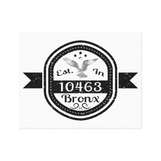 Established In 10463 Bronx Canvas Print
