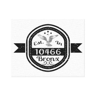 Established In 10466 Bronx Canvas Print