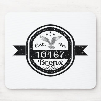 Established In 10467 Bronx Mouse Pad