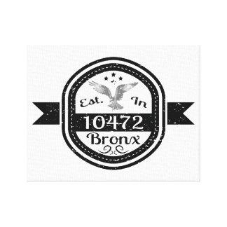 Established In 10472 Bronx Canvas Print