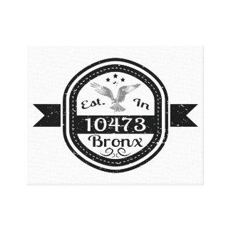 Established In 10473 Bronx Canvas Print