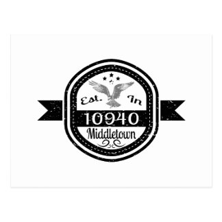 Established In 10940 Middletown Postcard